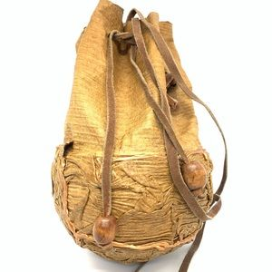 Leather Coconut Bag